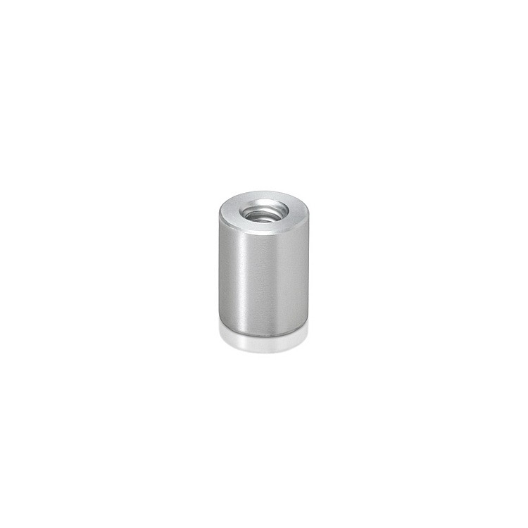 10-24 Threaded Barrels Diameter: 3/8'', Length: 1/2'', Clear Anodized Aluminum