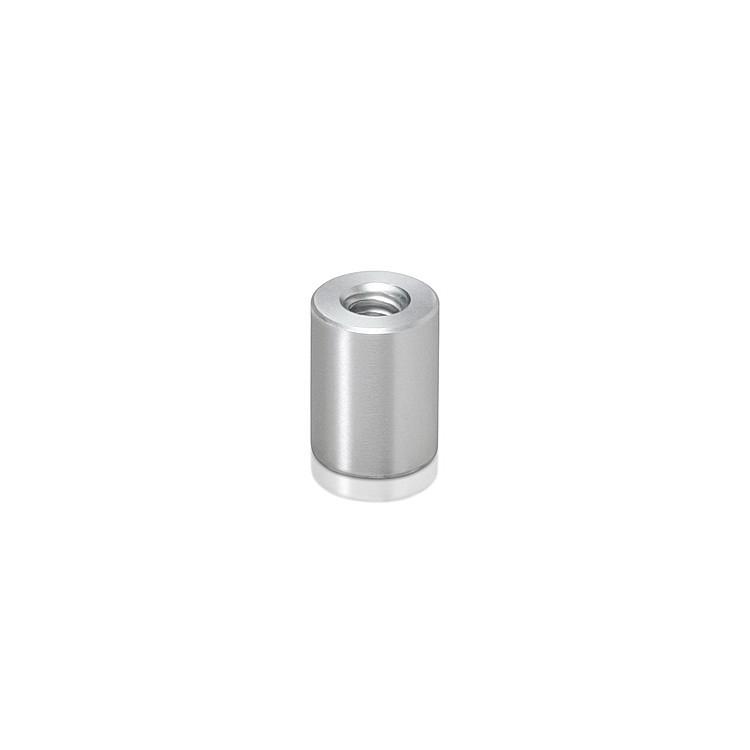 Unthreaded Barrels, Diameter: 3/8'', Length: 1/4'', Clear Anodized Aluminum