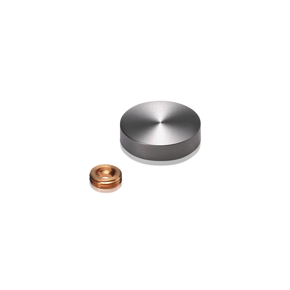 Set of 4 Screw Cover, Diameter: 1'' (25mm), Aluminum Titanium Finish
