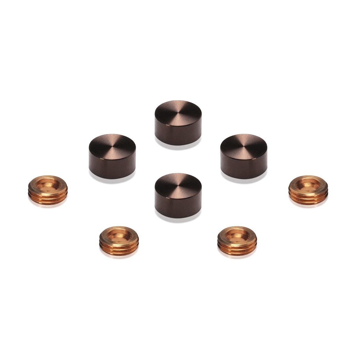 Set of 4 Screw Cover, Diameter: 1/2'', Aluminum Bronze Anodized Finish