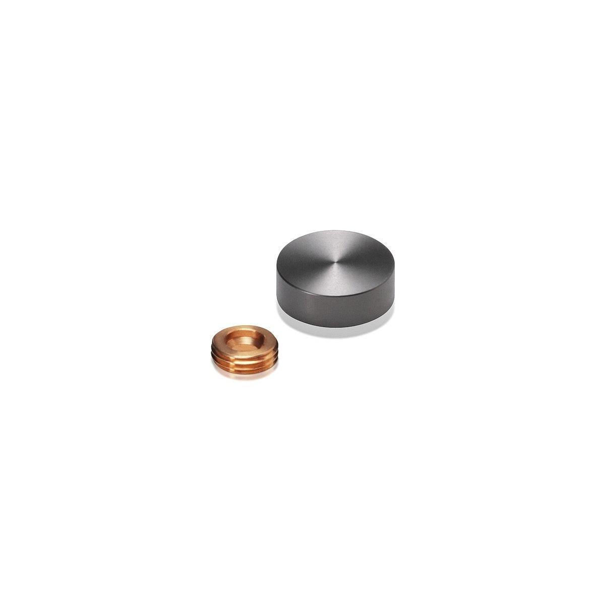 Set of 4 Screw Cover, Diameter: 11/16'', Aluminum Titanium Finish