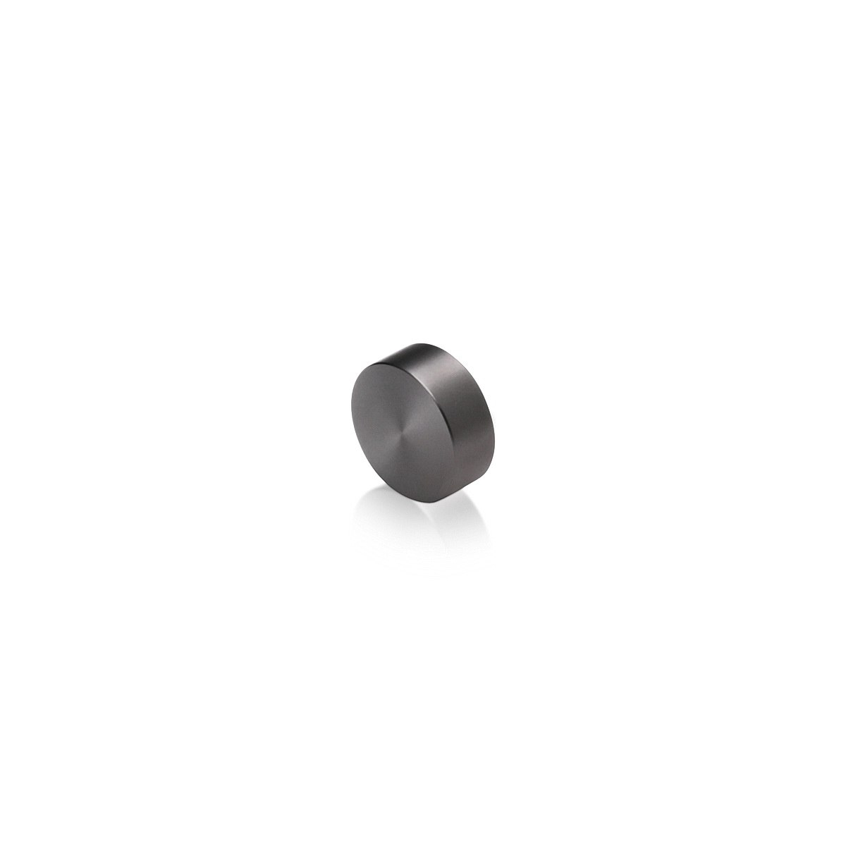 Set of 4 Screw Cover, Diameter: 5/8'', Aluminum Titanium Finish