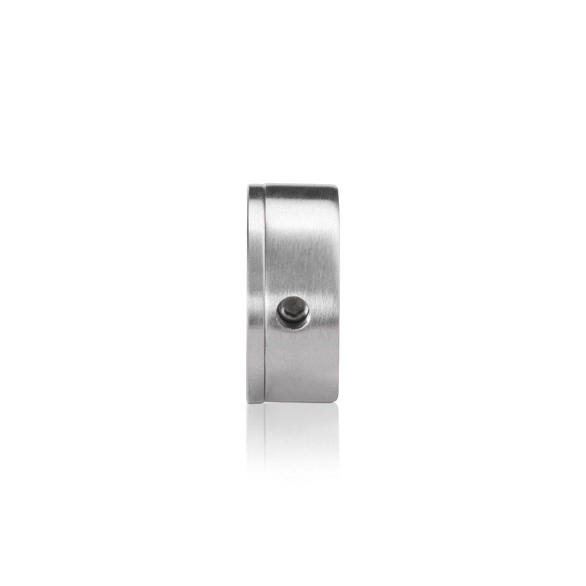 Stainless Steel Glass Standoff, Diameter: 1'', Standoff: 5/16'', Satin Brushed Finish (Indoor Use Only)