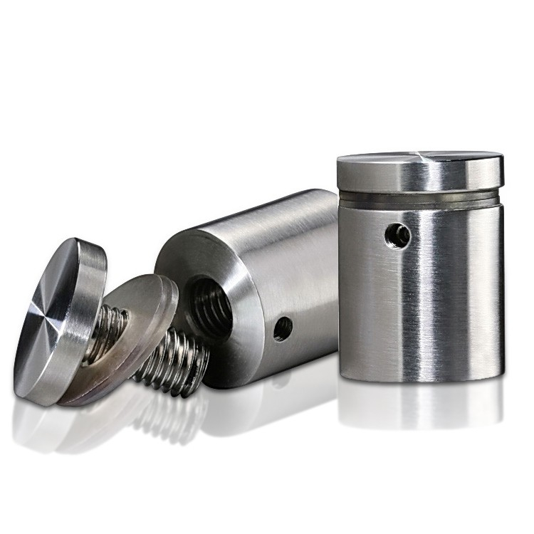 Stainless Steel Locking Standoffs, Diameter: 1'', Standoff: 1'', Satin Finish