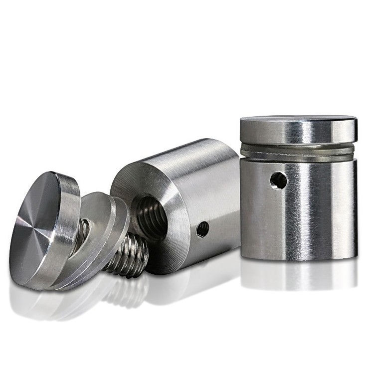 Stainless Steel Locking Standoffs, Diameter: 1'', Standoff: 3/4'', Satin Finish