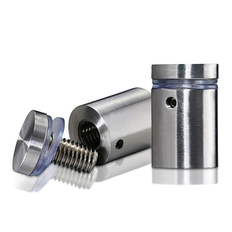 316 Marine Grade Stainless Steel Locking Standoffs, Diameter: 3/4'', Standoff: 1'', Satin Finish
