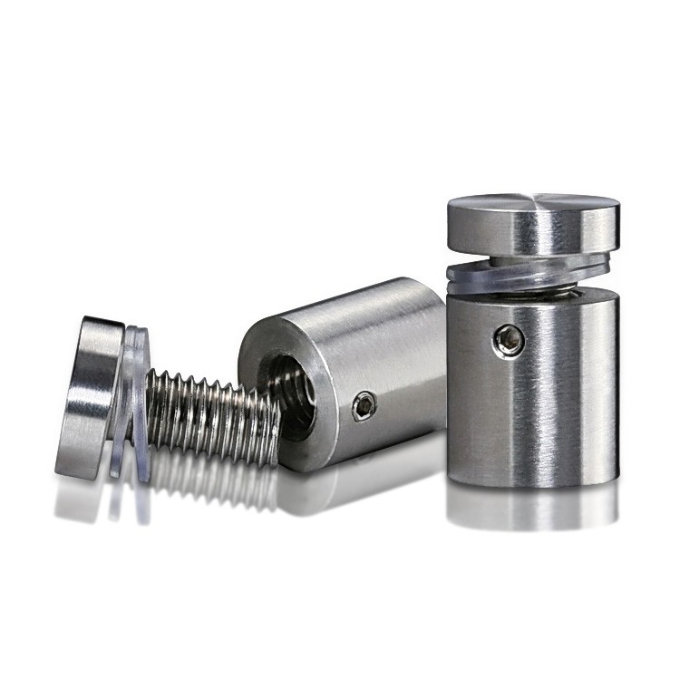 Stainless Steel Locking Standoffs, Diameter: 3/4'', Standoff: 3/4'', Satin Finish