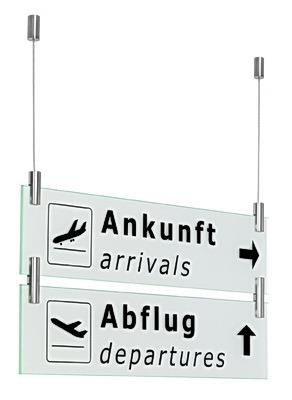 Double Sided Hanging Sign Support, Above and Below