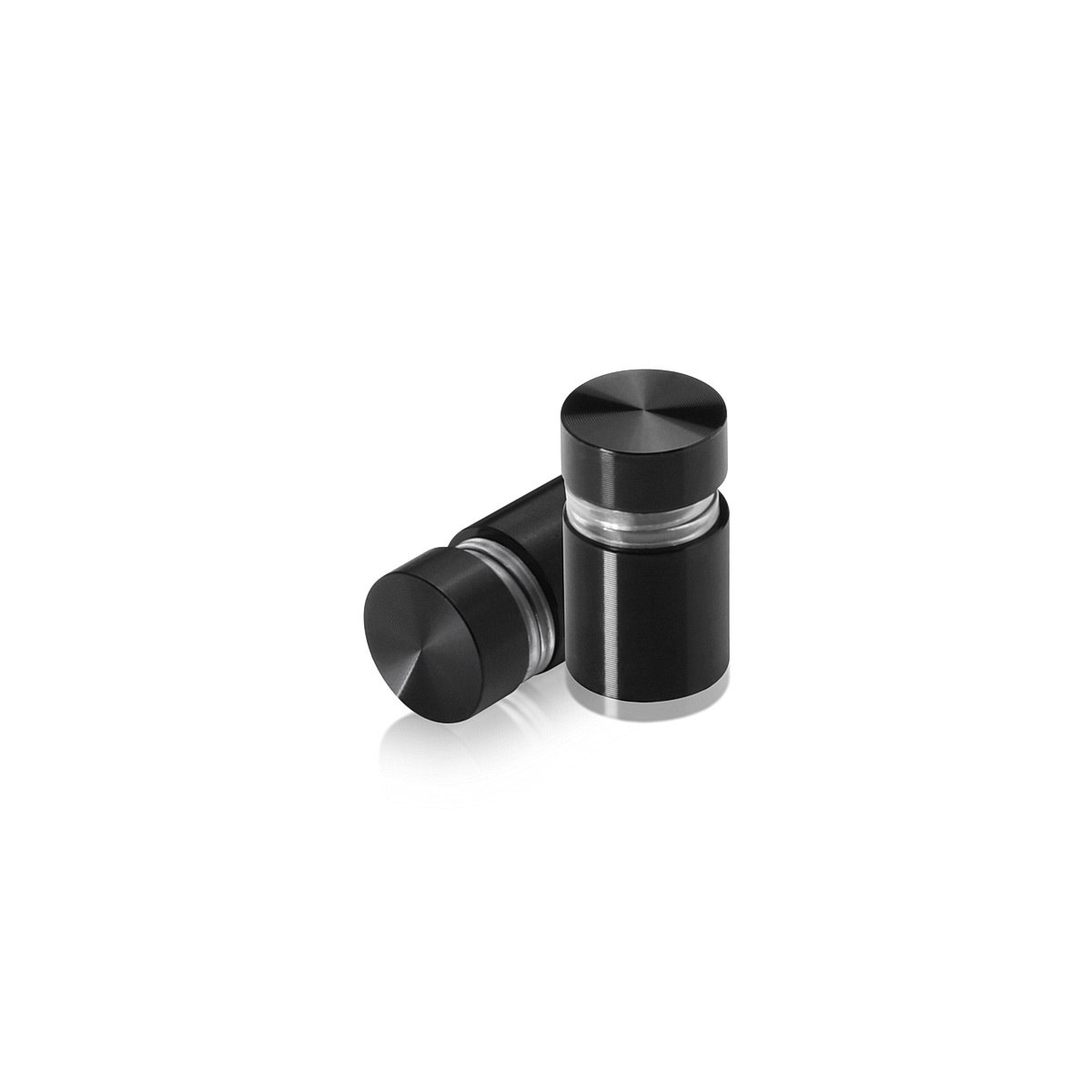 Tamper Proof Aluminum Flat Head Standoffs, Diameter: 1/2'', Standoff: 1/2'', Black Anodized Finish