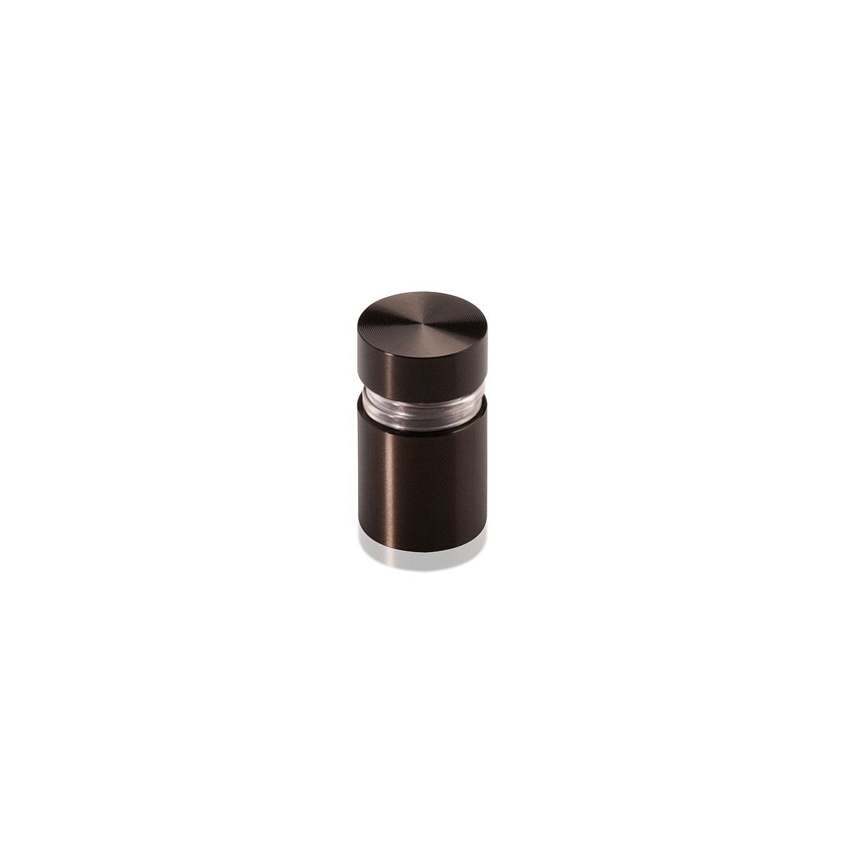 Tamper Proof Aluminum Flat Head Standoffs, Diameter: 1/2'', Standoff: 1/2'', Bronze Anodized Finish