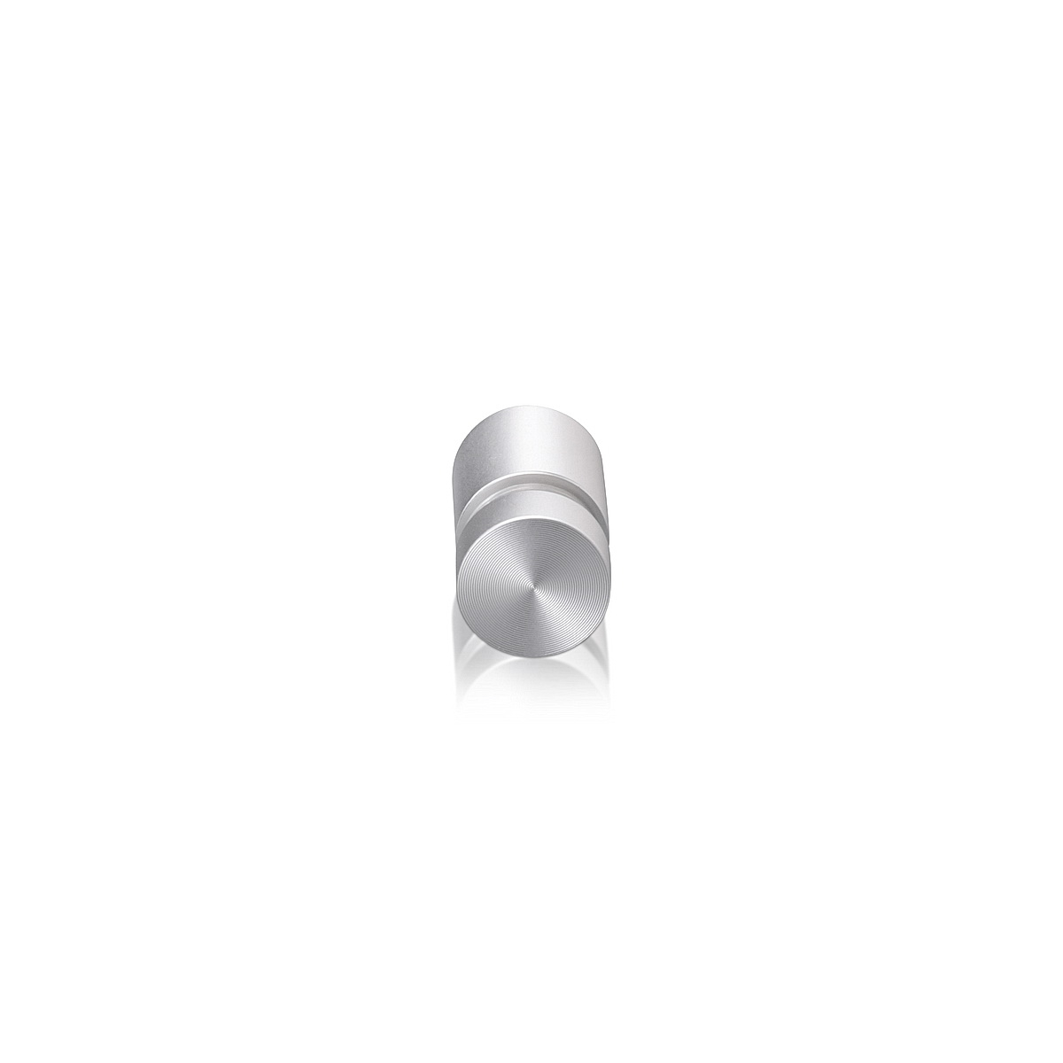 1/2'' Diameter X 1/2'' Barrel Length, Aluminum Flat Head Standoffs, Clear Anodized Finish Easy Fasten Standoff (For Inside / Outside use) Tamper Proof Standoff