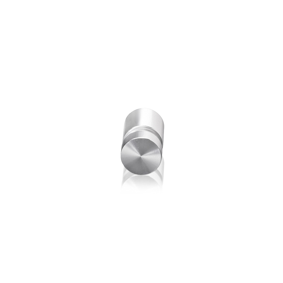 Tamper Proof Aluminum Flat Head Standoffs, Diameter: 1/2'', Standoff: 1/2'', Clear Anodized Shiny Finish