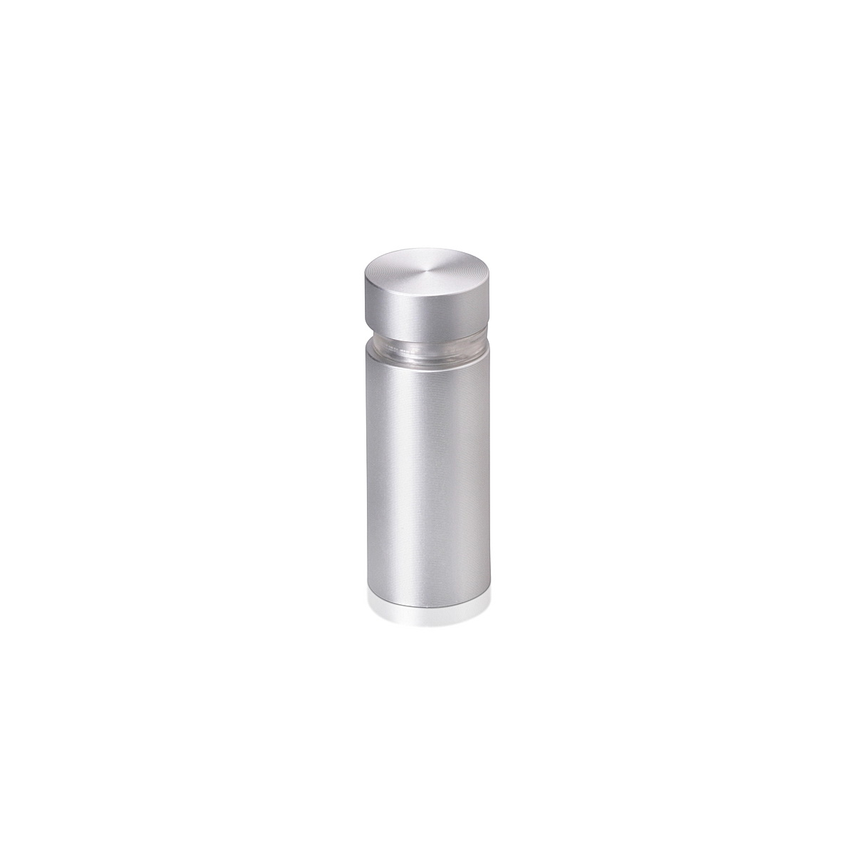 1/2'' Diameter X 1'' Barrel Length, Aluminum Flat Head Standoffs, Clear Anodized Finish Easy Fasten Standoff (For Inside / Outside use) Tamper Proof Standoff