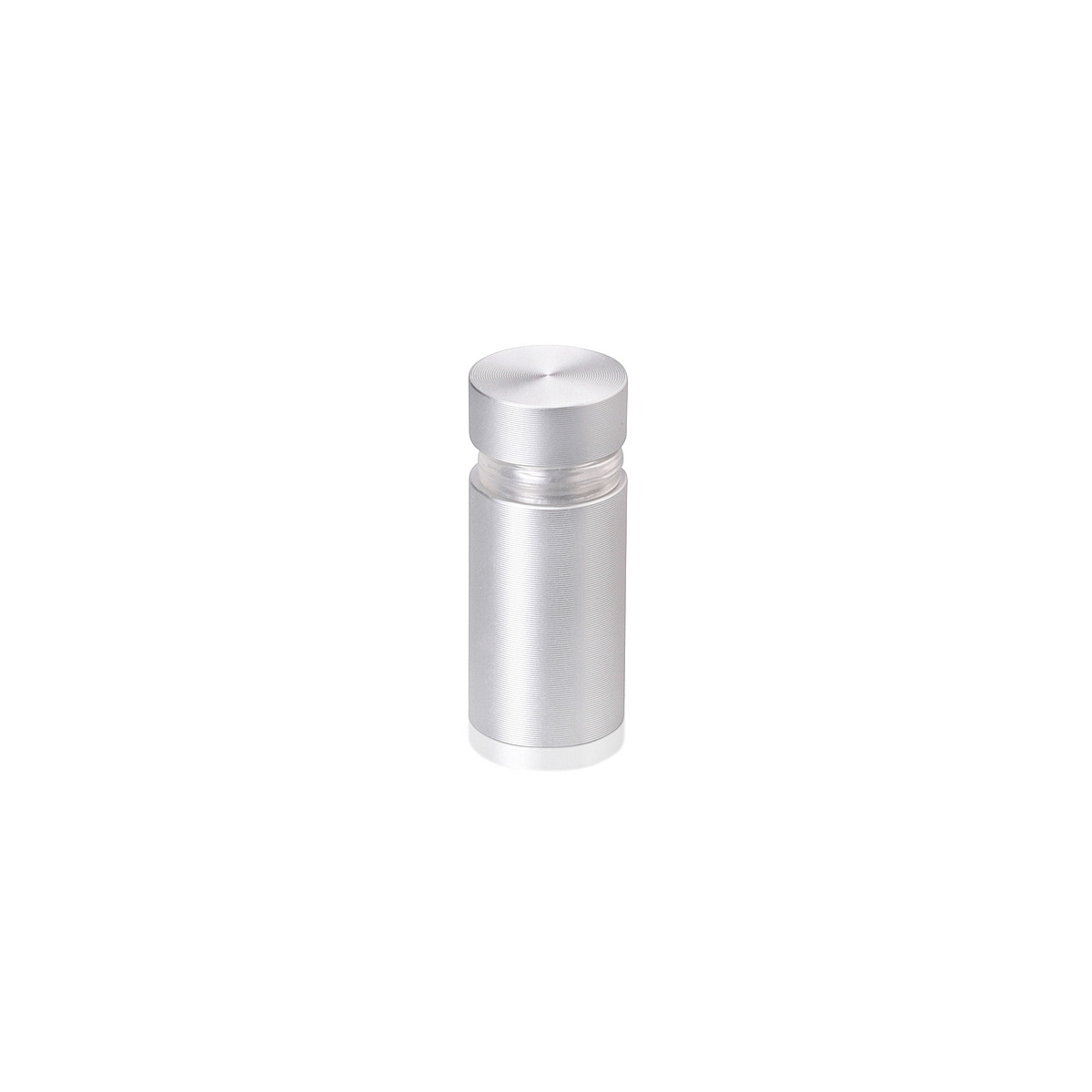 Tamper Proof Aluminum Flat Head Standoffs, Diameter: 1/2'', Standoff: 3/4'', Clear Anodized Finish
