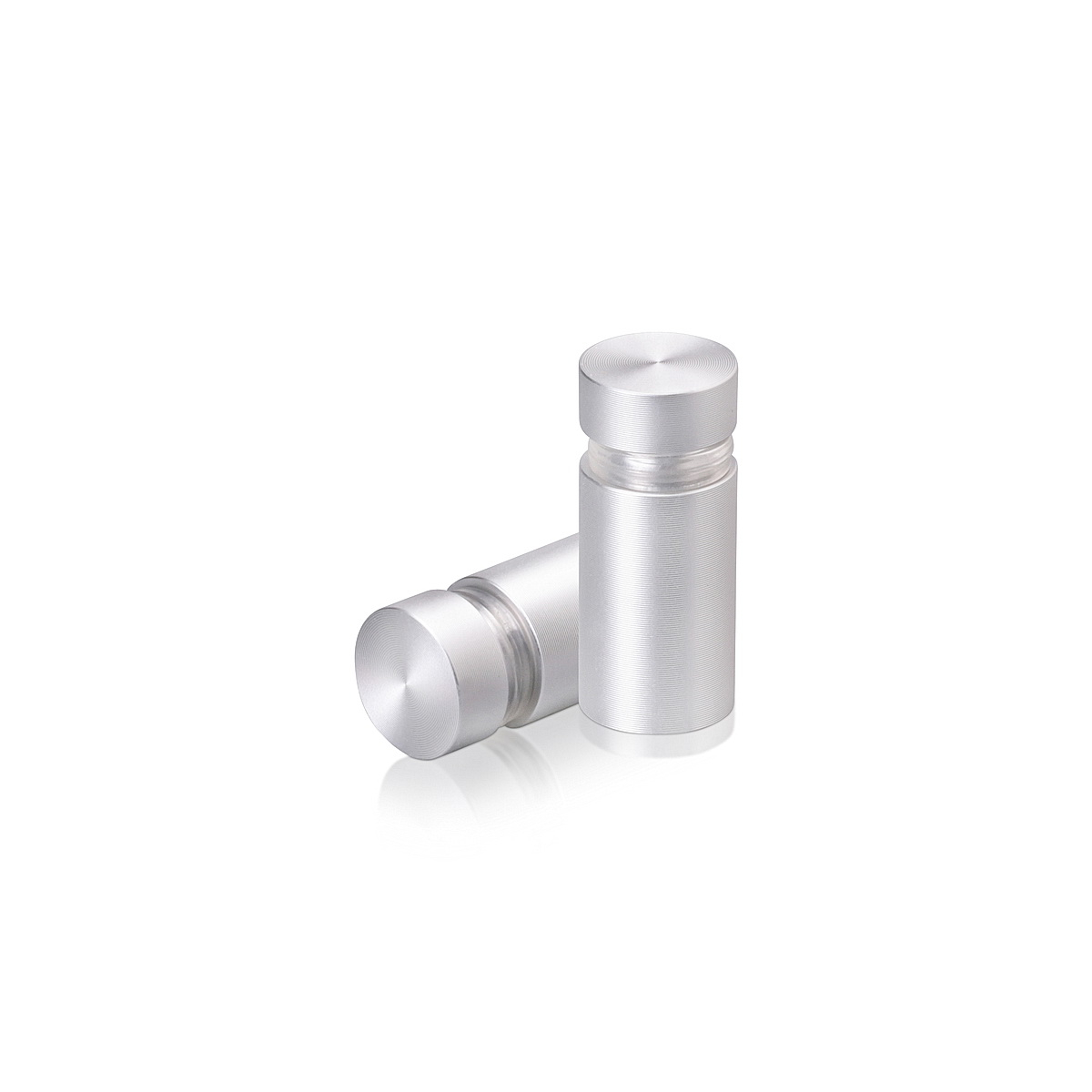 1/2'' Diameter X 3/4'' Barrel Length, Aluminum Flat Head Standoffs, Clear Anodized Finish Easy Fasten Standoff (For Inside / Outside use) Tamper Proof Standoff