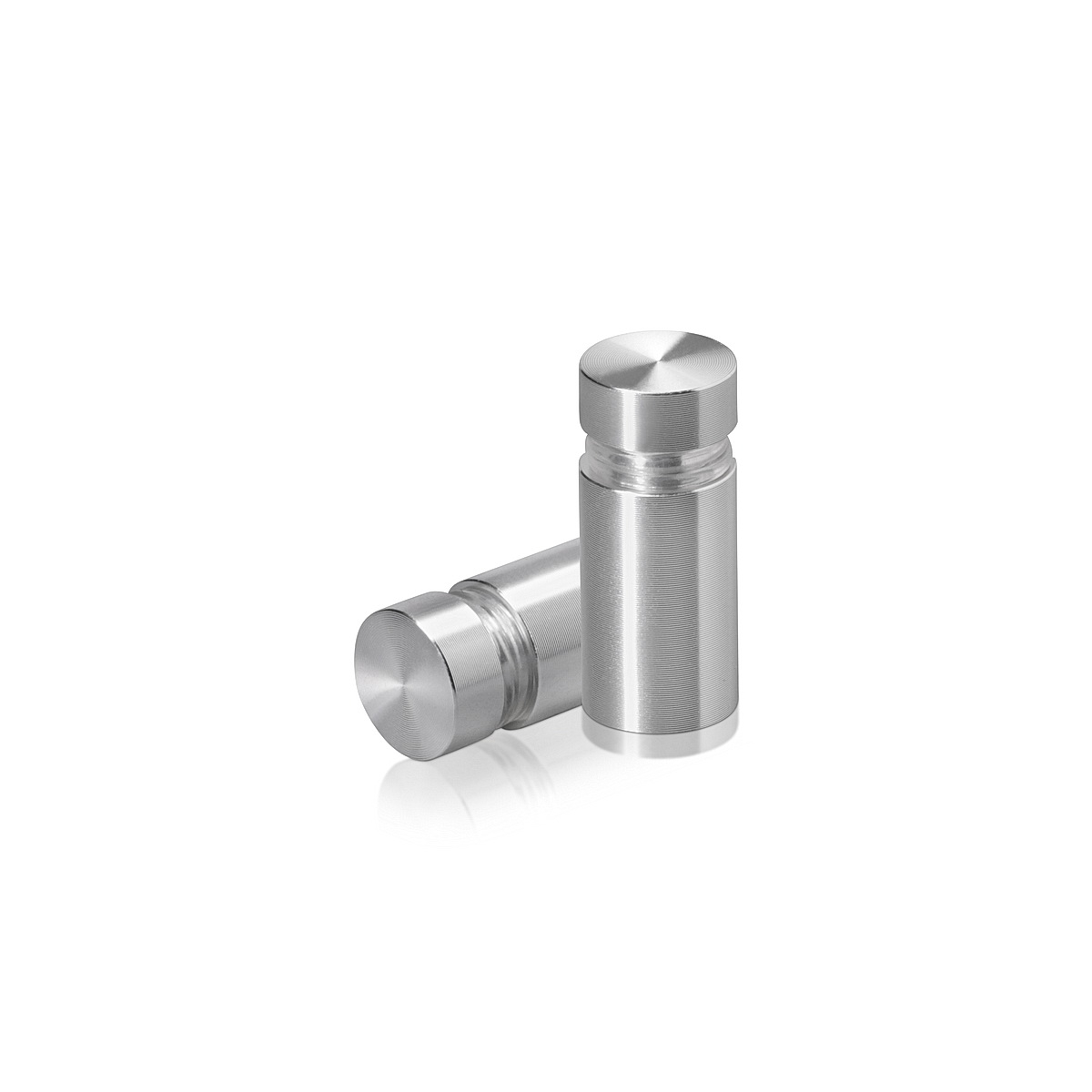Tamper Proof Aluminum Flat Head Standoffs, Diameter: 1/2'', Standoff: 3/4'', Clear Anodized Shiny Finish