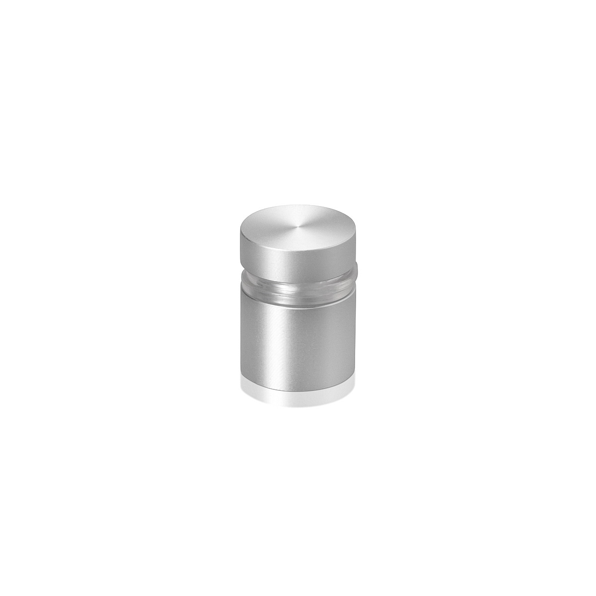 5/8'' Diameter X 1/2'' Barrel Length, Aluminum Flat Head Standoffs, Clear Anodized Finish Easy Fasten Standoff (For Inside / Outside use) Tamper Proof Standoff