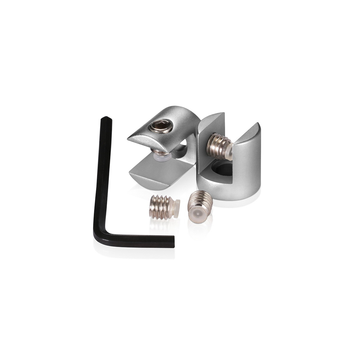 Aluminum Anodized Finish Projecting Gripper, Holds Up To 3/8'' Material